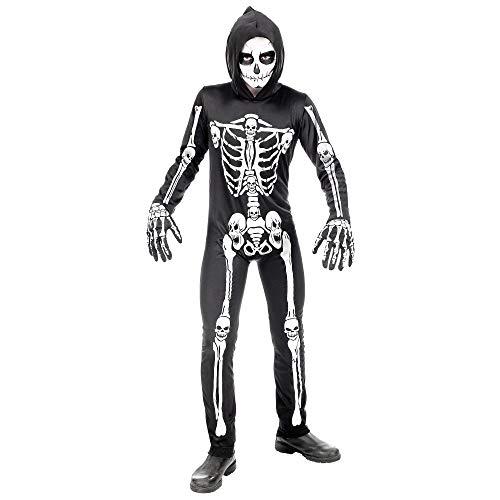 WIDMANN - Disfraz infantil de esqueleto, multicolor, (116 cm/4 – 5 años), 00065