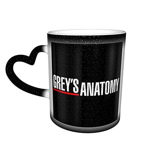 IUBBKI Taza de café con estampado de anatomía de Grey, cielo estrellado, cerámica, sensible al calor, taza mágica, cambio de taza, la fuerza despierta con calor