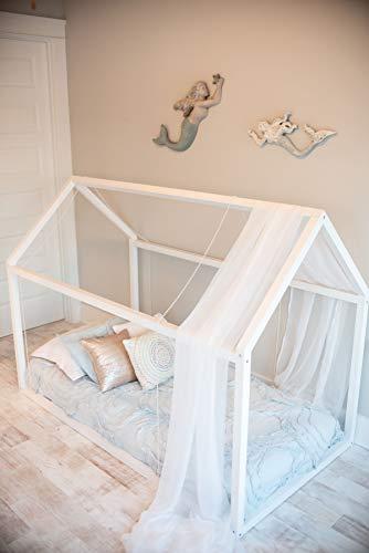 Montessori House Frame Floor Bed from Custom Kids Furniture