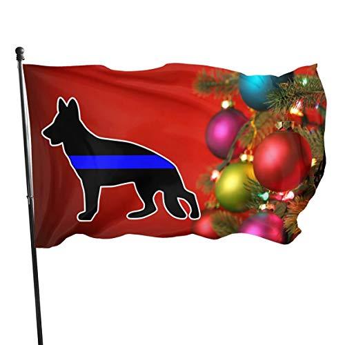 Xinz-00 Flagge Ägyptische Göttin Isis 90 x 152 cm Polyester – lebendige Farben und UV-beständig, Thin Blue Line Police Dog German Shepherd, Einheitsgröße