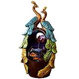 Fuente de Agua Fuente de escritorio creativa Decoración for el hogar Sala de estar Oficina Escritorio Fuente de resina y tanque de peces Regalo elegante fuente de agua decorativa ( Color : A )