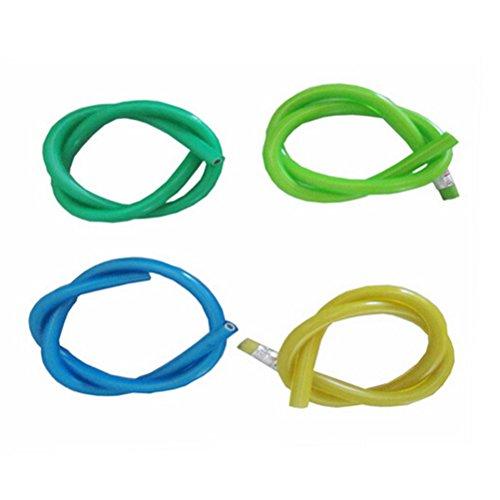 WINOMO Pliable souple crayon avec gomme nouveauté 30cm en PVC vert souple 12pcs (couleur aléatoire)
