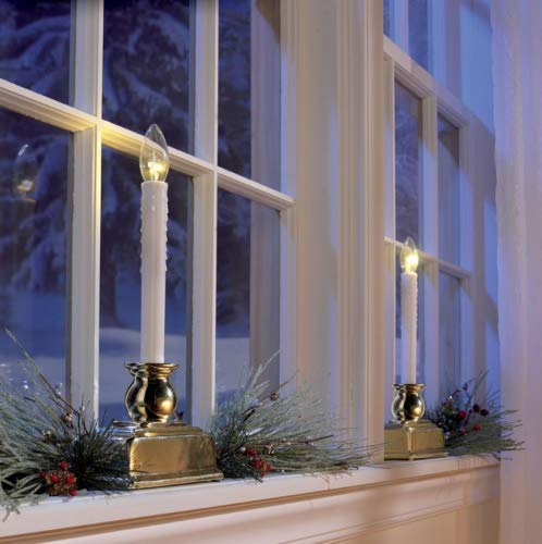 Berkley Jensen 12' Window Candles with Three-Piece LED Lights, 4 pk.