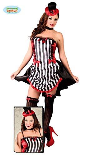 Guirca grafoplas Disfraz Burlesque Mujer, Color, 80669