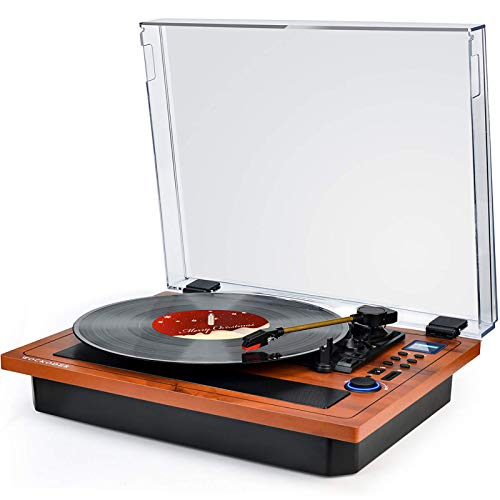 Turntable Vinyl Record Player Support Wireless in...