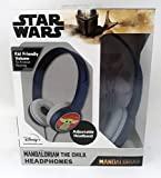 Star Wars Kid Safe Headphones Mandalorian The Child Print Over The Ear Padded Cushions