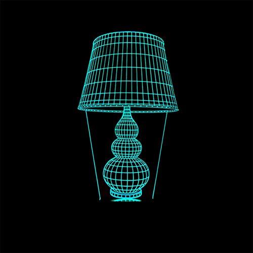 baby Q LED 3D Illusion Lampe, Lumières visuelles tactiles colorées, lumières actionnées par USB, Lampes de Cadeau acryliques