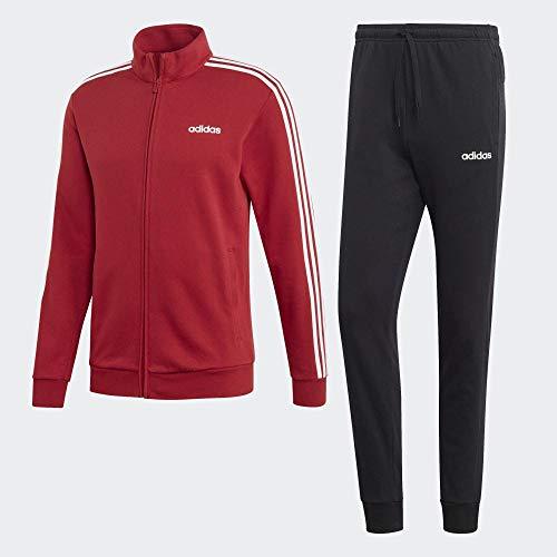 adidas Herren Cotton Relax Trainingsanzug, Active Maroon/Black/White, M