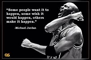 Some People Want Michael Jordan Quotes Poster Print 16 x 25 inch (Rolled) Print Sticker Retro Unframed Wall Art Gifts 40x63cm