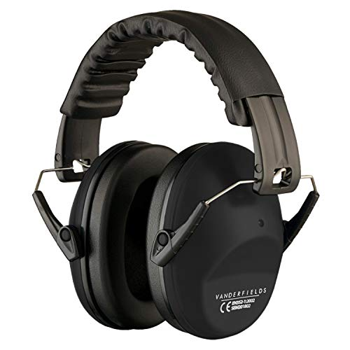 Vanderfields Hearing Protection for Shooting – Compact Foldable Portable Safety Earmuffs for Blocking Ear Sound Reduction - Hunting Range Studying...