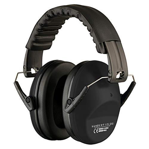 Vanderfields EF5005 Gehörschutz-Ohrenschützer, für Männer und Frauen, Erwachsenengröße., schwarz