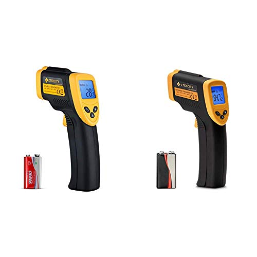 Etekcity Infrared Thermometer 774 -58℉~ 716℉ Black & Infrared Thermometer 749 (Not for Human) Non-Contact Digital Laser IR Thermometer-58℉~ 716℉ (-50℃ ~ 380℃), Standard Size, Black & Yellow