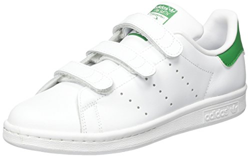 adidas Originals Stan Smith Cf S82702, Unisex-Kinder Sneaker, Weiß (Ftwr White/Ftwr White/Green), EU 35.5