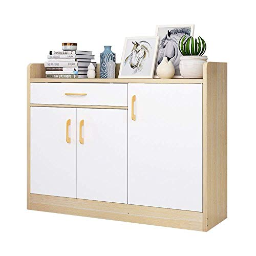 CENPEN Zapatero de almacenamiento con 3 puertas y 1 cajón, uso en la entrada, porche, sala de estar, ahorro de espacio, fácil de montar (color: blanco, tamaño: 93 x 24 x 80 cm)