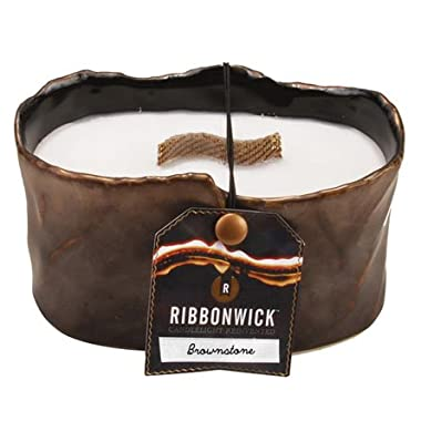 WoodWick Ribbonwick Brownstone Small Oval Candle - 14oz.
