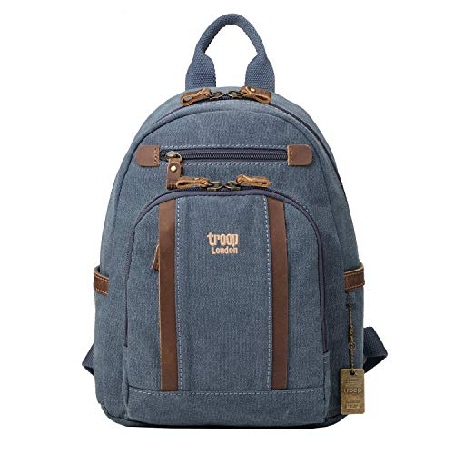 TRP0255 Troop London Classic Small Canvas Backpack (Blue)