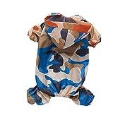 Fliyeong - Chubasquero Impermeable para Mascotas, diseño de Camuflaje para Perros y Gatos, Talla L, Color Azul