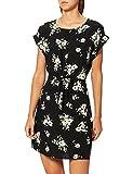 Vero Moda VMSIMPLY Easy SS Short Dress GA Noos Robe, Noir/Orange, XS Femme