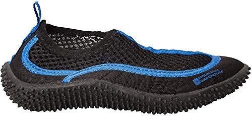 Mountain Warehouse Zapatillas de Agua Bermuda niños - Zapatos Playa de Neopreno, Forro de Malla, Zapatos de Agua Ligeros, fáciles de Poner - Verano, Playa, Buceo Azul 35