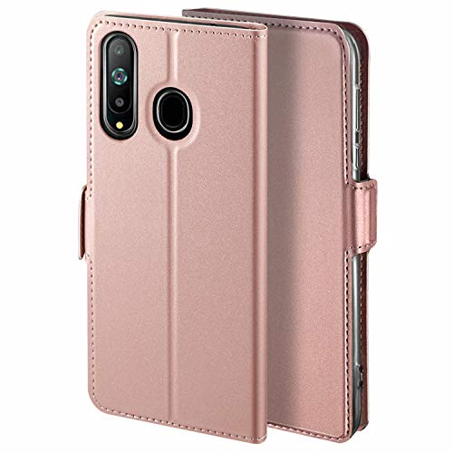 HoneyHülle für Handyhülle Samsung Galaxy A8S Hülle Premium Leder Flip Schutzhülle für Samsung Galaxy A8S Tasche, Rose Gold