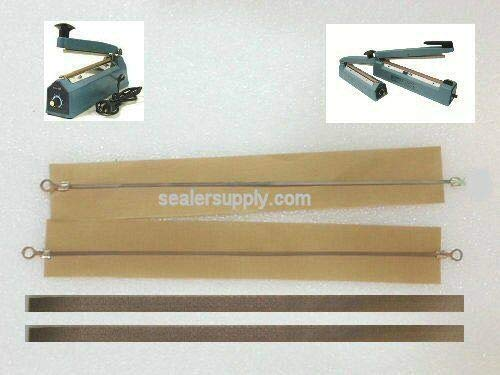 SEJAHTERA New Two Factory 12' Impulse Sealer Repair Kits Fit PFS-300 AIE More 2 Wires 4 Cover