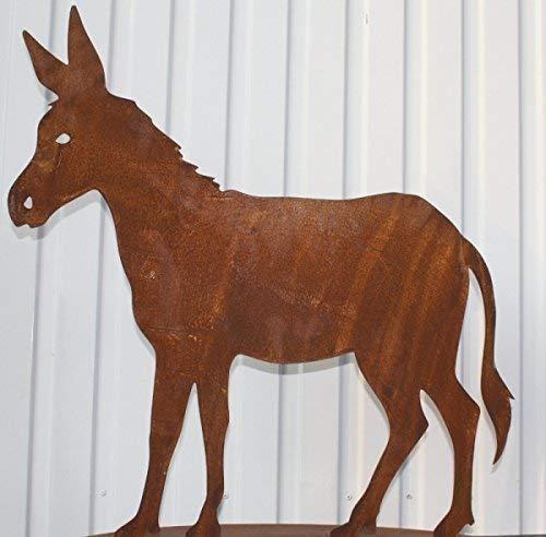 Rostikal Deko Esel aus Edelrost, Tierfiguren aus Metall größe 1