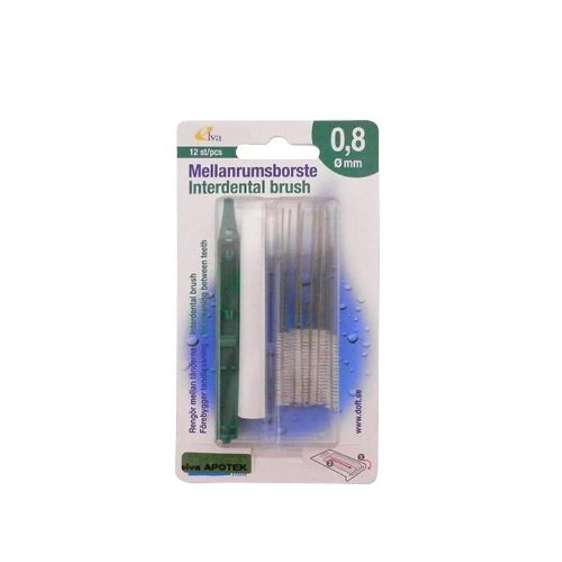 熱狂的な同様に物質エルバ アポテック 歯間ブラシ ELVA APOTEK 12本入 グリーン 0.8mm