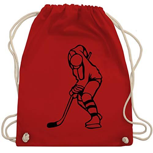Shirtracer Eishockey - Eishockeyspieler - Unisize - Rot - eishockey grün - WM110 - Turnbeutel und Stoffbeutel aus Baumwolle