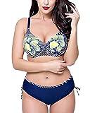 Shaoyao Mujer Estampado De Flores Bikini Tallas Grandes Bañadores Traje De Baño 50
