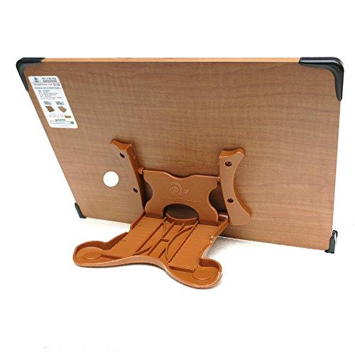 見やすい角度に14段階調節木製ブックスタンド大きめサイズ(40×26.5cm)折りたたみ式多用途書見台筆記台(メーカー直輸入品)