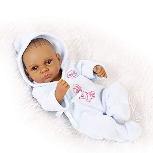 HUANLIAN Realistische Mini Reborn Babypuppen Mädchen 10.2Inch 26Cm Weiche Silikon-Vinyl Real Life Kleinkinder Puppen Neugeborene Spielzeug Geschenke,A