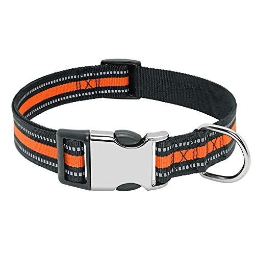 Me Plus Pet Pet Collar Collar Nylon PEQUEÑO Pisco por Puppy Collares Personalizados Pitbull Medio Medio Collar DE PERDIO