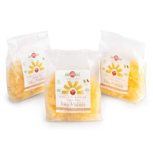 isiBisi Gluten Free Baby Mafalda Pasta - Made with Rice and Corn Flour - Quality, Authentic Gluten Free Pasta - Vegan, Non-GMO Pasta Noodles - Made in Italy