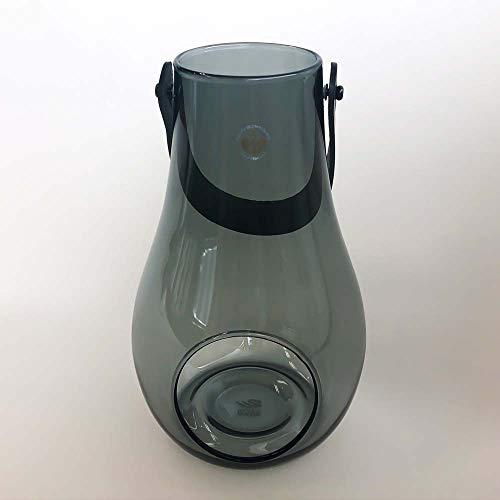Holmegaard DWL Laterne, Glas, Smoke, 25 cm