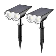 ☆Super Brightness with 16 LEDs☆: Linkind solar spotlights with 16 high-brightness LED lamp beads & 90 degree beam angle produce up to 650 lumen of 6500K light output, 50% brighter than other ordinary ones. Adjustable angle of the lights and solar pan...