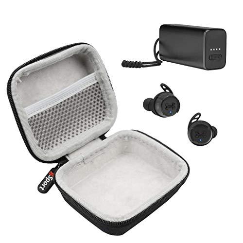 JBL UA True Wireless Flash X in-Ear Sport Headphones On-The-Go Bundle with gSport Deluxe Hardshell Case (Black)
