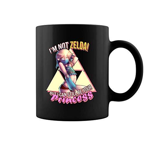 N\A No Soy Zelda Pero aún Puedo ser tu Princesa Taza de café de cerámica Taza de té (Negro)