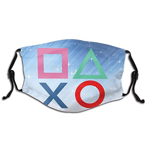 Hirola Erwachsene Bandana Niedliches Design Playstation Joypad Face Neck Gaiter Face Scarf Mask Dust, Winddicht Atmungsaktiv Angeln Wandern Laufen Radfahren