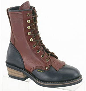 Women's 8in Western Packer Boots Tumble Two Tone