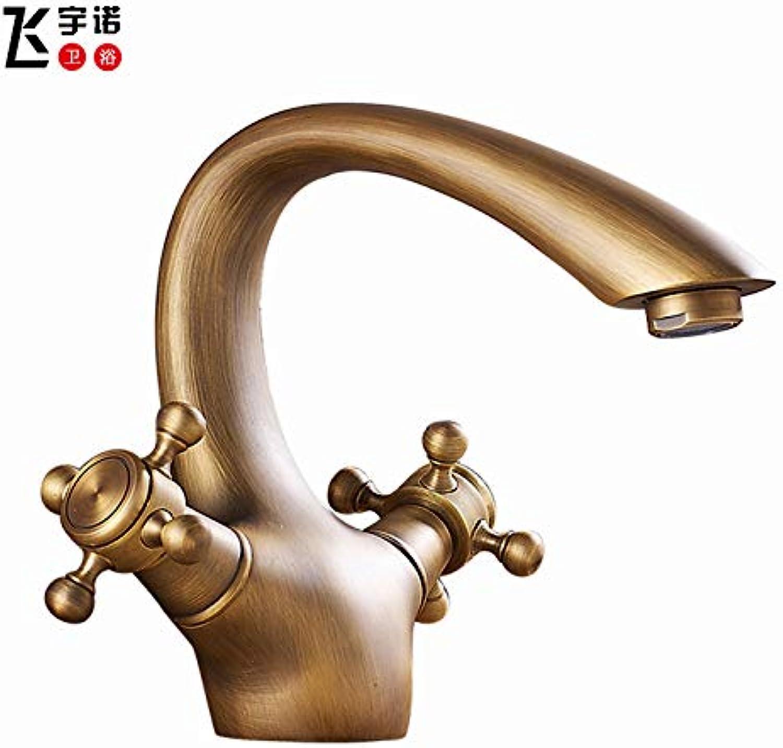 redOOY Taps Faucet Antique Faucet Antique European Faucet Faucet Big Curved Horns Line, Antique
