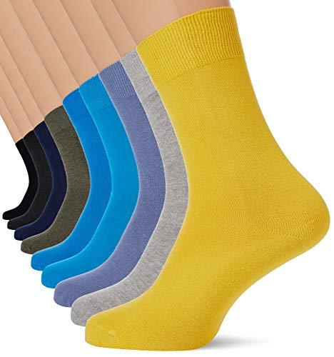 Camano Herren 9106 Socken, Türkis (Turquoise 6500), (Herstellergröße: 35/38) (9er Pack)