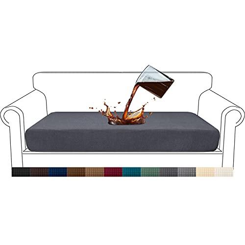 Granbest Premium - Fodera per Cuscino per Divano, Impermeabile, Tessuto Jacquard ad Alta Elasticità (3 posti, Grigio)