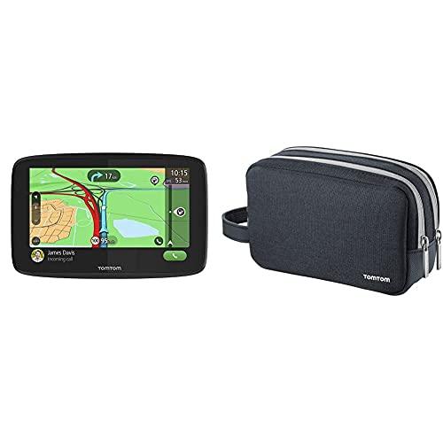 TomTom Navigationsgerät GO Essential (6 Zoll, Stauvermeidung dank TomTom Traffic) & Reisetasche für alle 4,3-, 5- und 6-Zoll-Display Modelle (z. B. TomTom GO, Start, Via, GO Basic, GO Essential)