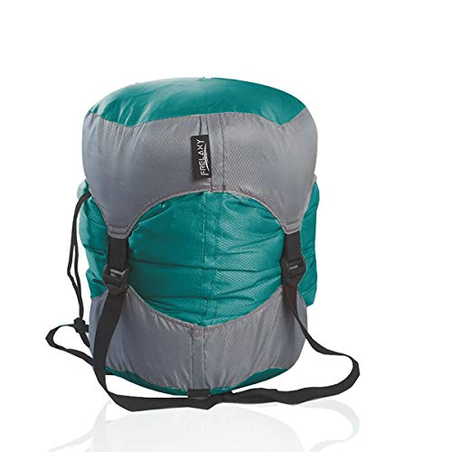 Frelaxy Compression Sack, Ultralight Sleeping Bag Stuff Sack Compression Stuff Sack - Space Saving Gear for Camping, Hiking, Backpacking (Turquoise, S)