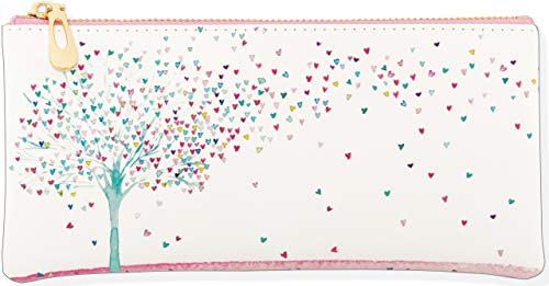 Tree of Hearts Pencil Pouch (accessory case, charger case, vegan leather)