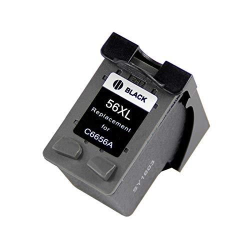 WXJ BEFON Black 56 o Color 57 XL Reemplazo del Cartucho de Tinta for HP 56 57 HP56 HP57 Deskjet 2100 220 450 5510 5550 5552 7150 7350 (Color : Black (1pcs 56XL))