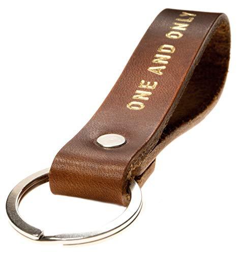 LIEBHARDT Schlüsselanhänger mit Gravur ONE and ONLY Liebeserklärung für deinen Lieblingsmensch zum Valentinstag Handmade in Germany mit Gravur/Prägung Dankeschön Geschenk
