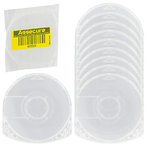 Assecure 10x Replacement PSP Umd Game Crystal Clear Case Shell For Sony PSP...