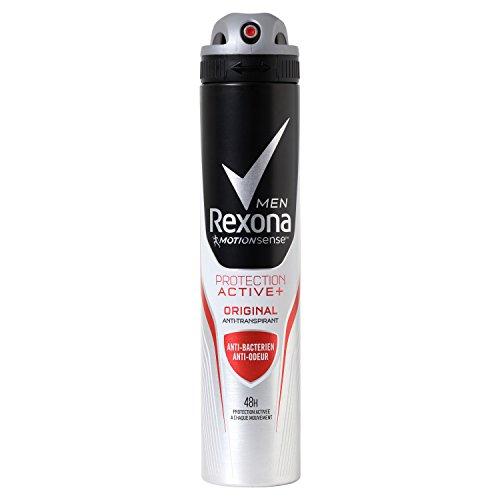 Rexona For Men Déodorant Homme Protection Active+, Anti-Bactérien et Anti-Odeur, Protection 48h, Spray 200ml