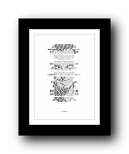 Póster de la letra A3 de Bruce Springsteen, edición limitada